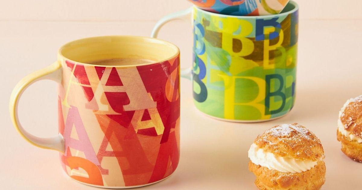 Anthropologie Monogram Mugs Only $4.98 Shipped (Regularly $14)