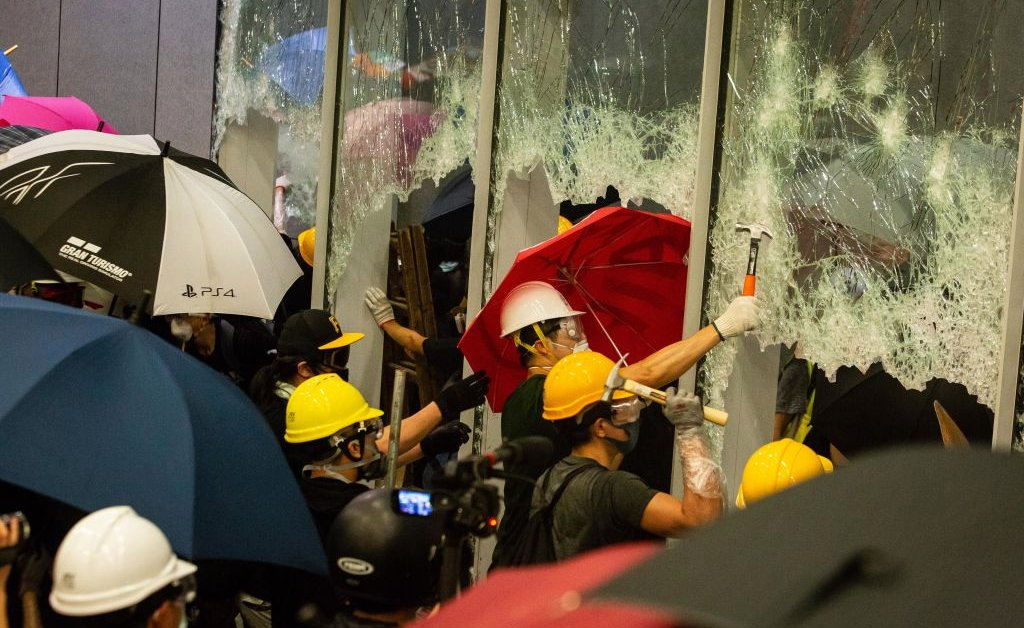 China Draws Hong Kong Protests Comparison With Capitol Siege