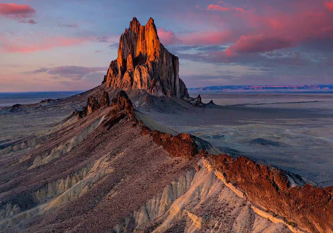 Shiprock, New Mexico, USA by Gale Ensign