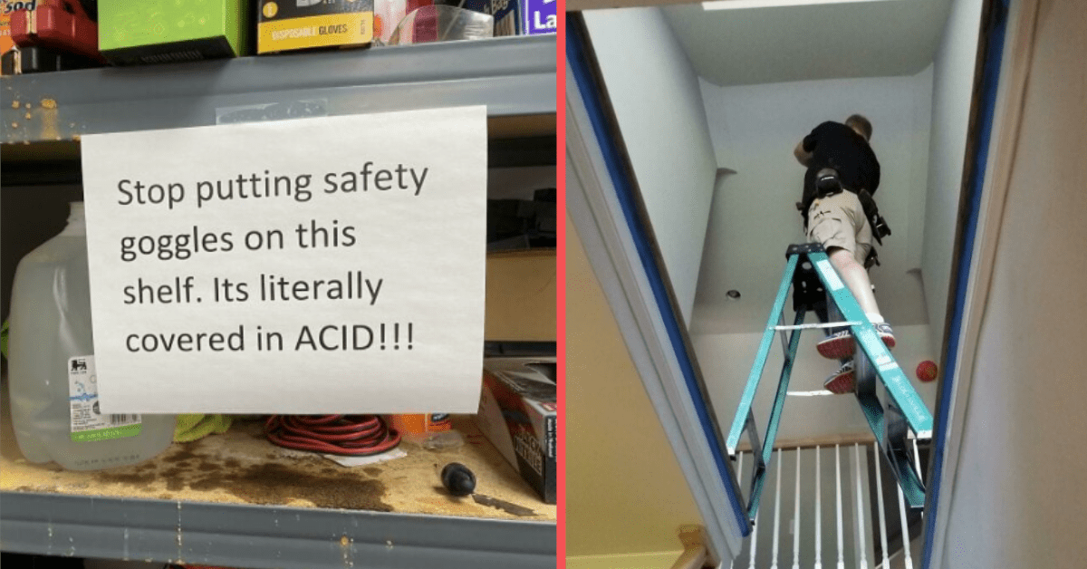 13 People Who Live Like They Don't Know What Safety Is
