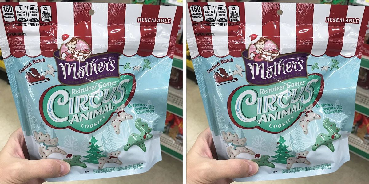 Mother's Circus Animal Cookies Just Released A Reindeer Shape That's Ready For Christmas