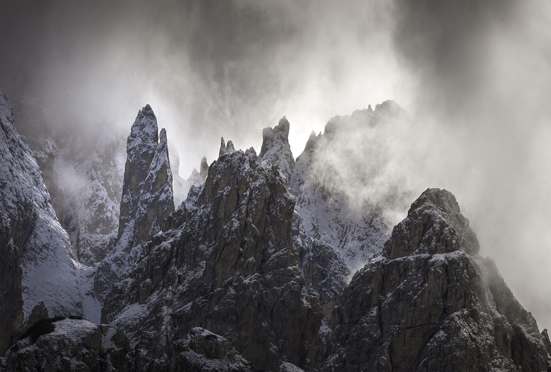Cadini Group, Sexten Dolomites, Italy by Francis Ansing