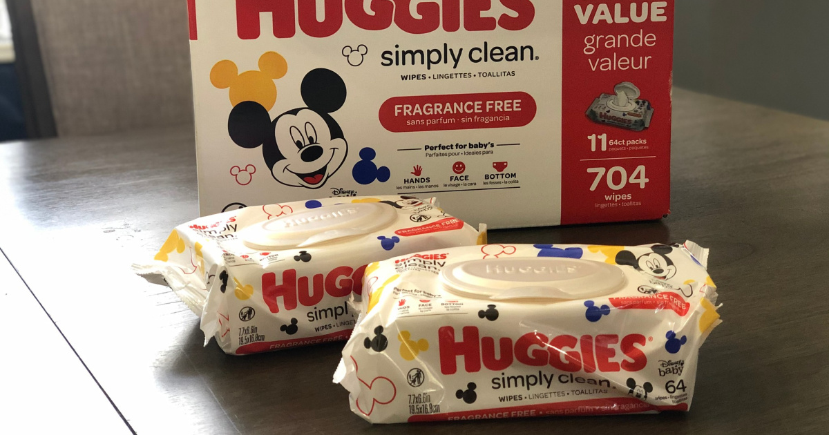 Huggies Simply Clean Wipes 704-Count Box Only $11 Shipped on Amazon