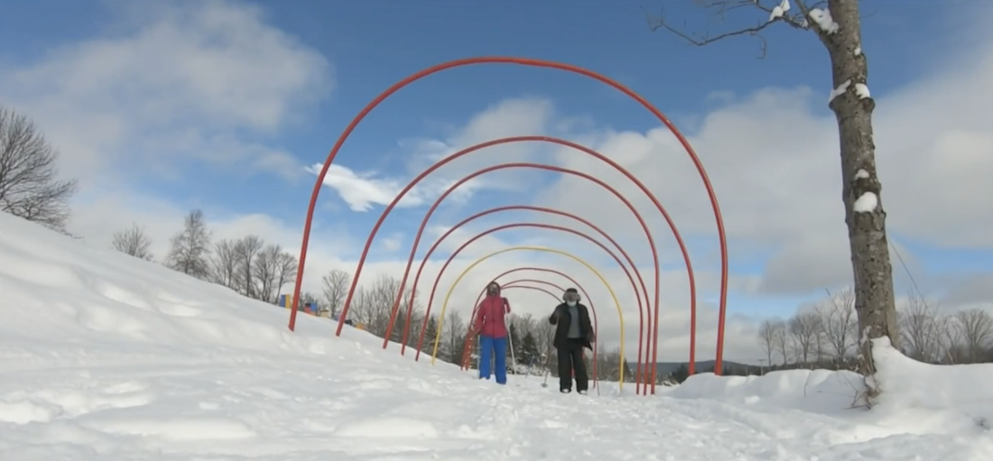 This Open Air Vermont Art Gallery Requires Skis or Snowshoes to Visit