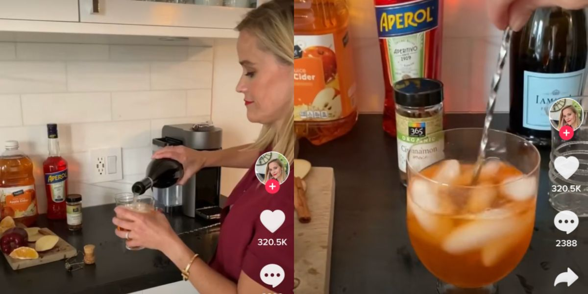 Reese Witherspoon Made A Fall Apple Cider Cocktail On TikTok
