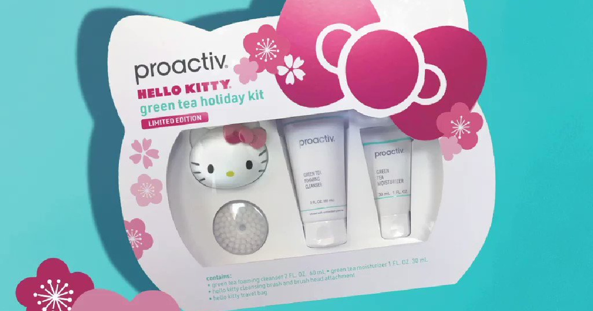 Proactiv Limited Edition Hello Kitty Green Tea Gift Set Only $13.53 Shipped on Amazon (Regularly $48)
