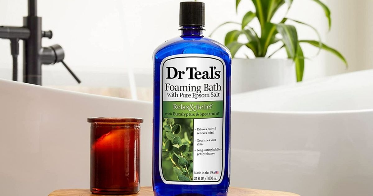 Dr Teal's Foaming Bath 34oz Bottle Only $3 Shipped on Amazon