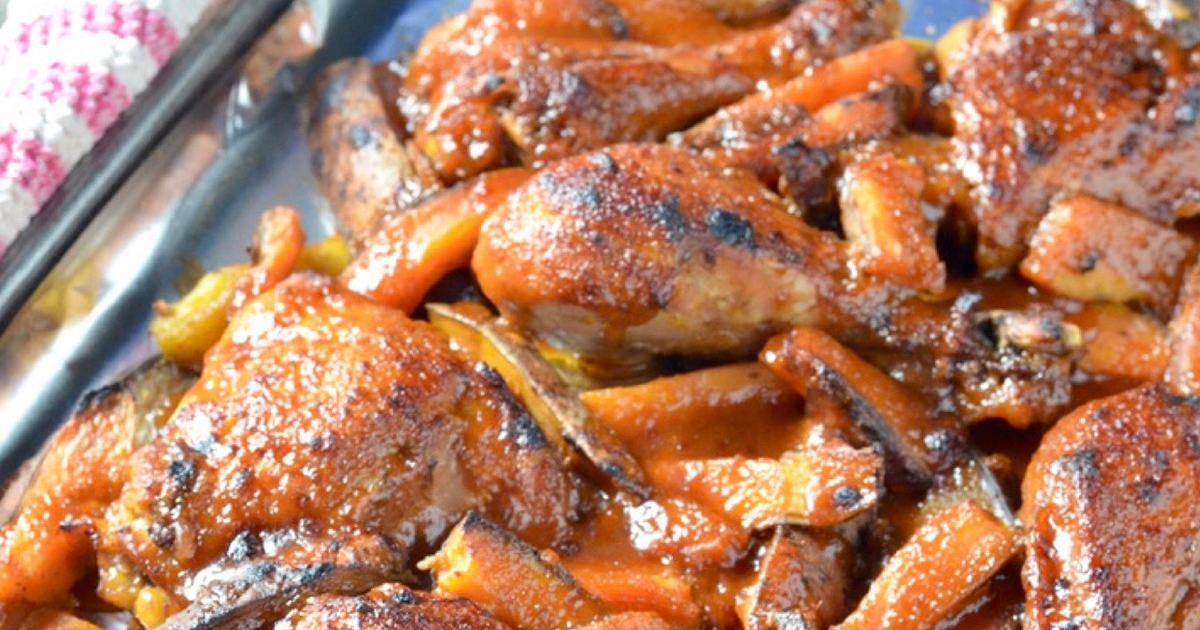 Soy Maple Glazed Chicken and Sweet Potatoes (Slow Cooker)