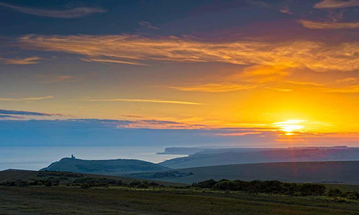 Belle Tout Lighthouse Evening View, Beachy Head, East Sussex, England