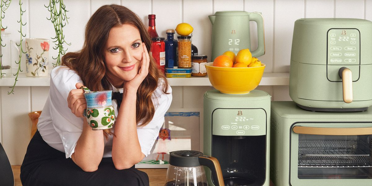 Drew Barrymore's New 'Beautiful Kitchenware' Debuts With Sage Green Small Appliances
