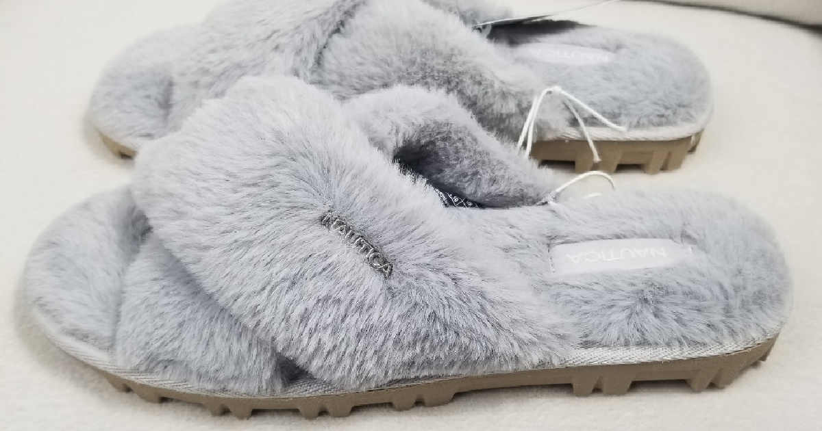 Nautica Women's Faux-Fur Slide Sandals Only $5.98 Shipped (Regularly $30)