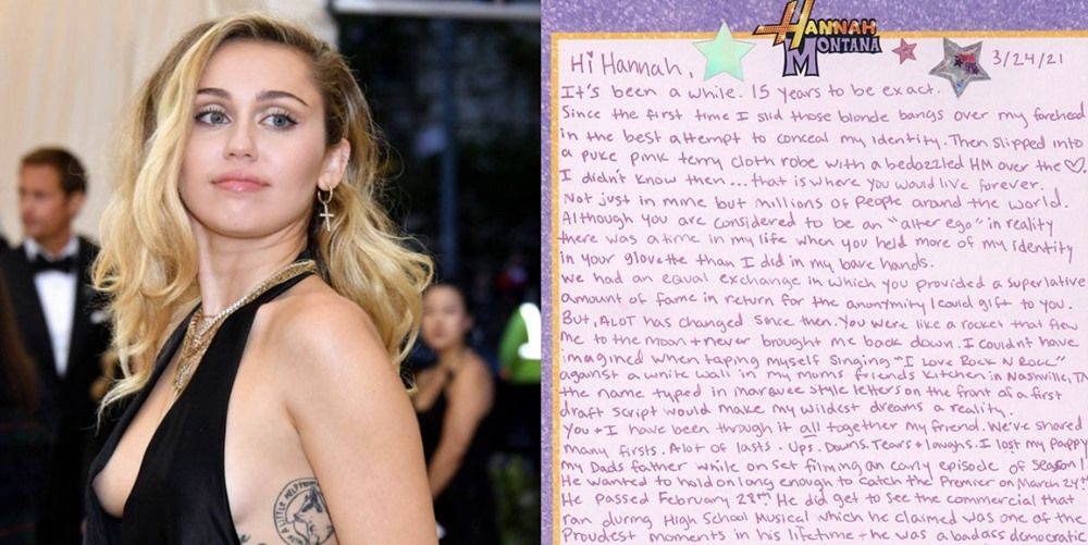 Read Miley Cyrus Letter's to Hannah Montana for Show's 15th Anniversary