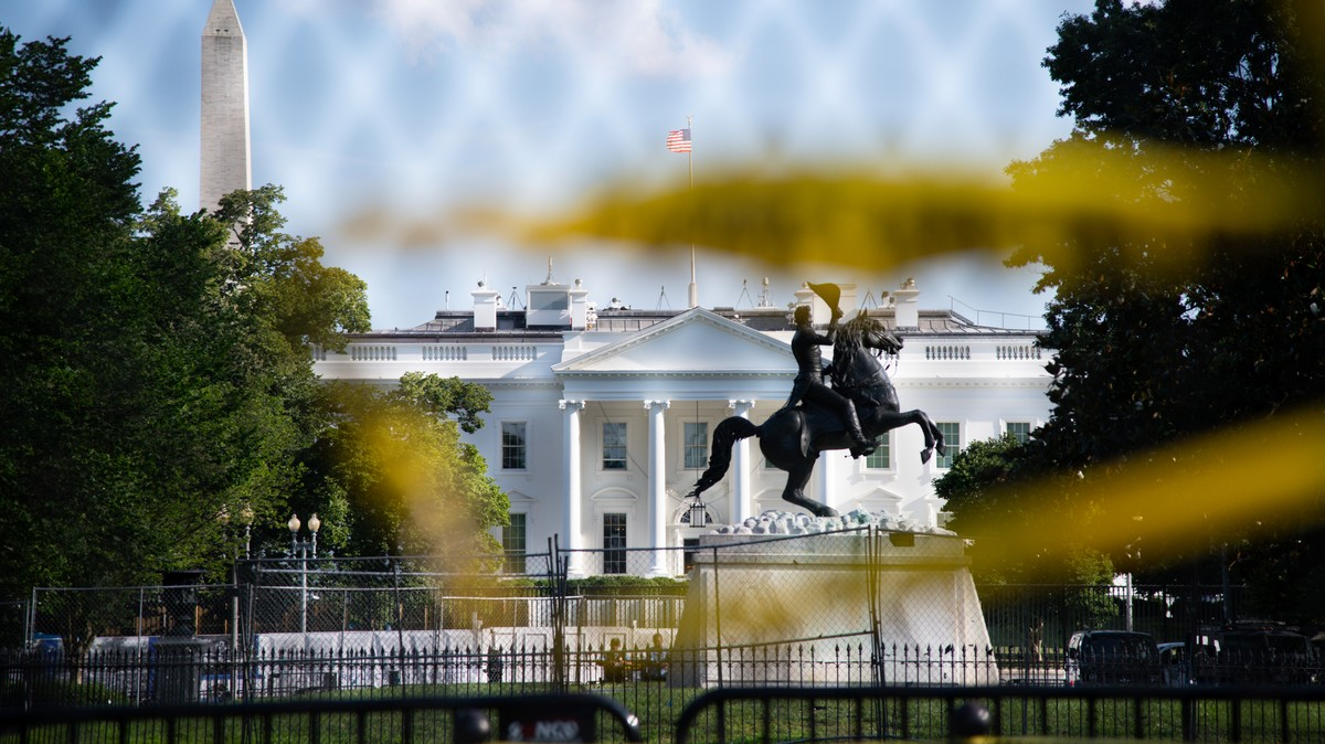 Trump Is Barricading Himself Behind a Massive 'Non-Scalable' Fence on Election Day