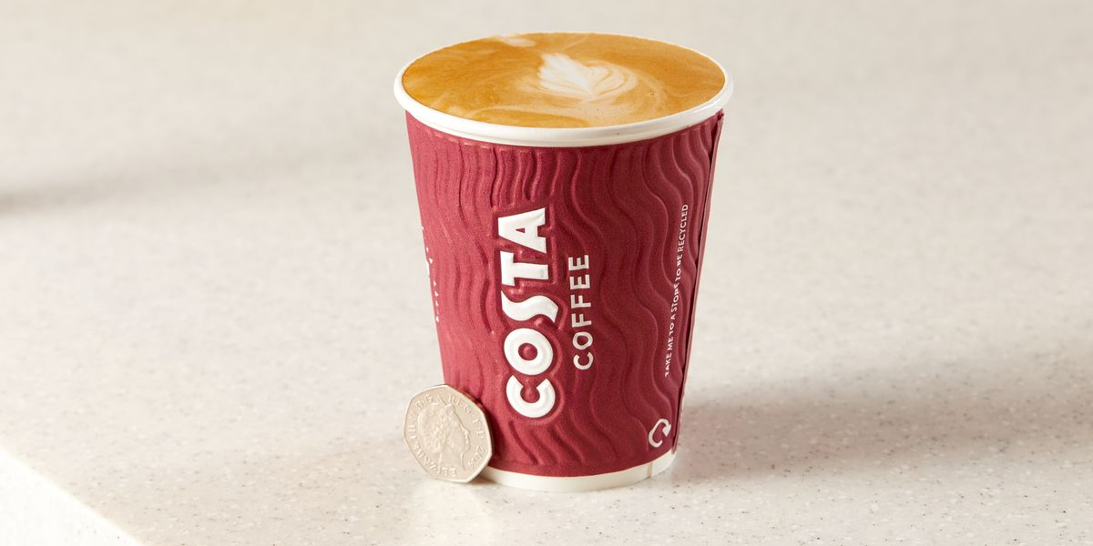 Costa Coffees Are Just 50p This Week!