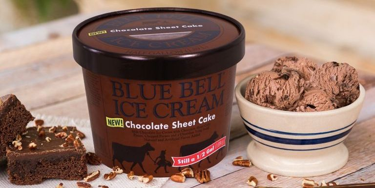 Blue Bell Ice Cream Released a New Chocolate Sheet Cake Flavor