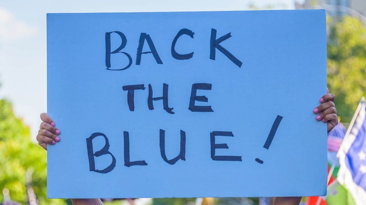 Teen Facing a Year in Jail After Stomping on 'Back the Blue' Sign
