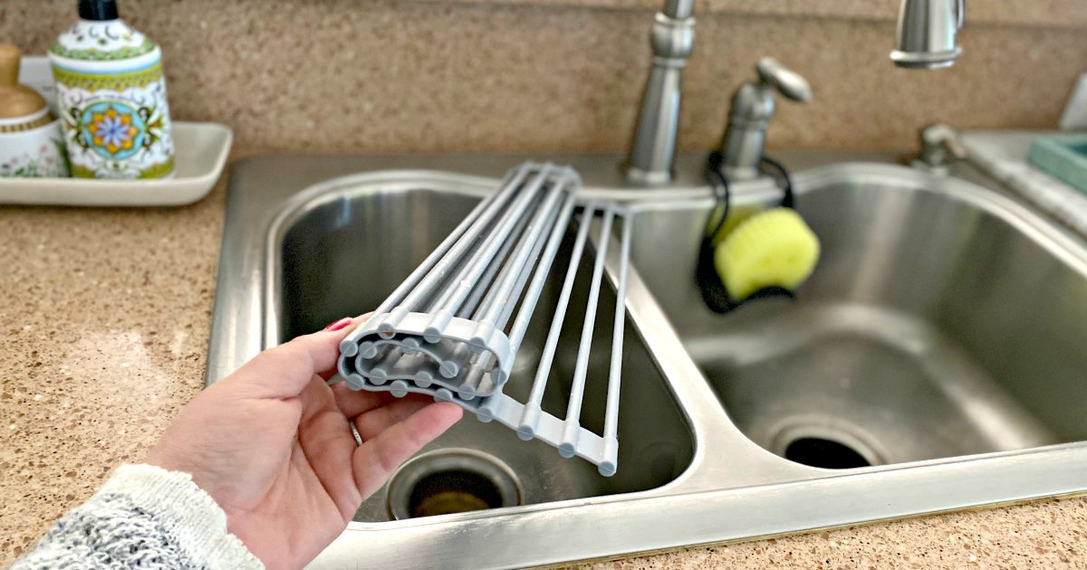 This Roll-Up Dish Drying Rack is a Game Change in the Kitchen!