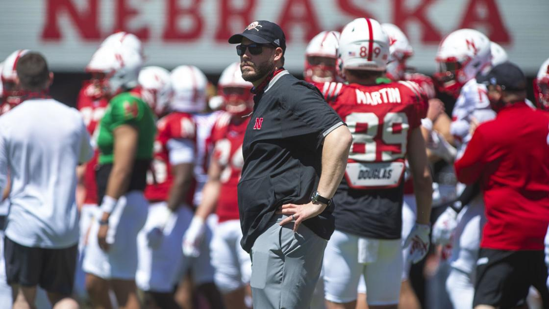 What kind of movement did spring ball prompt in the Huskers' projected defensive depth chart?