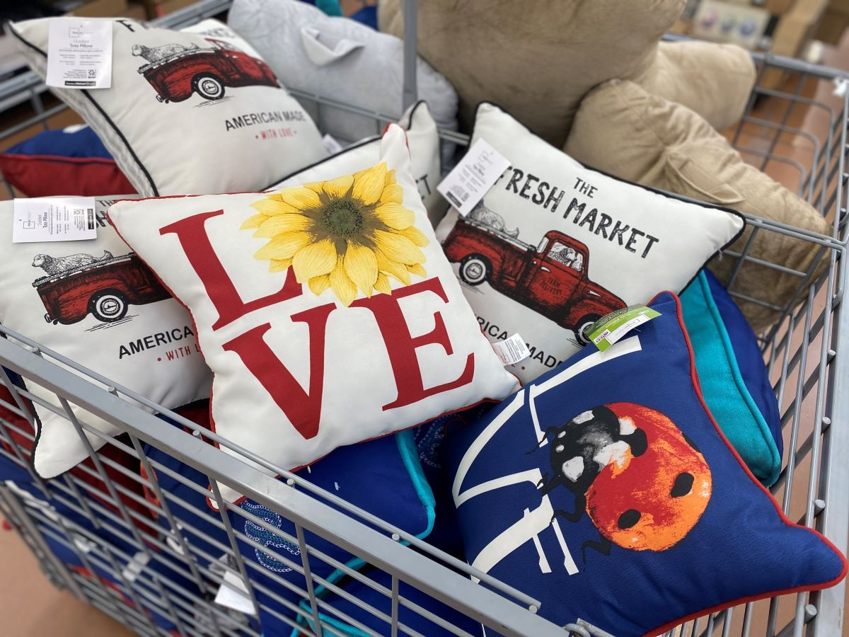 Outdoor Throw Pillows Only $5 at Walmart (In-Store & Online)