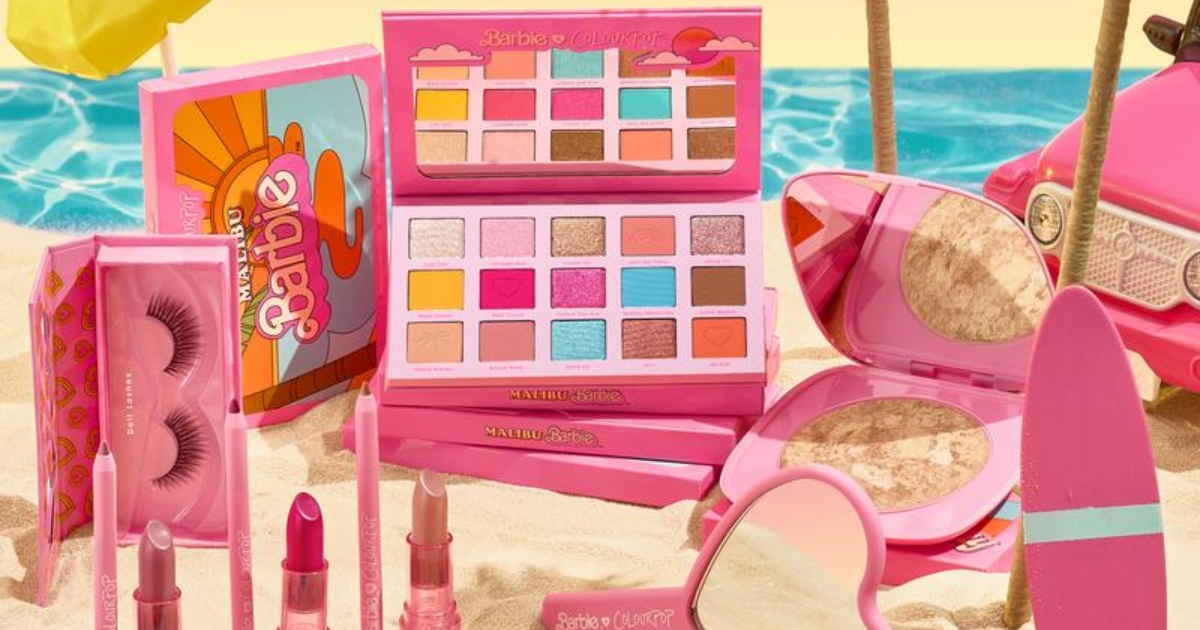 ColourPop Is Celebrating Malibu Barbie's 50th Birthday With a Fun New Makeup Collection