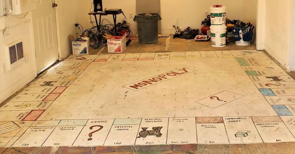 Family Finds Life-Sized Monopoly Board Under Their Carpet and the Internet Wants One