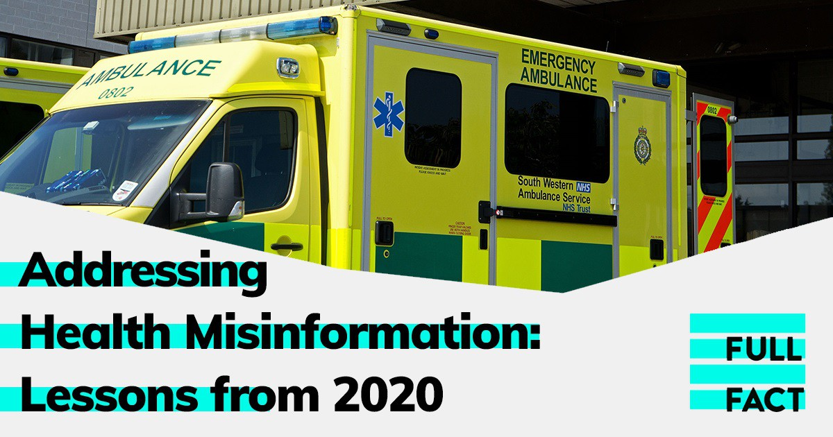 Addressing Health Misinformation: Lessons from 2020