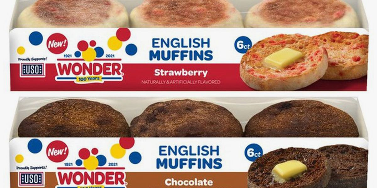 Wonder Bread Is Taking Over Breakfast With Its New Strawberry and Chocolate English Muffins