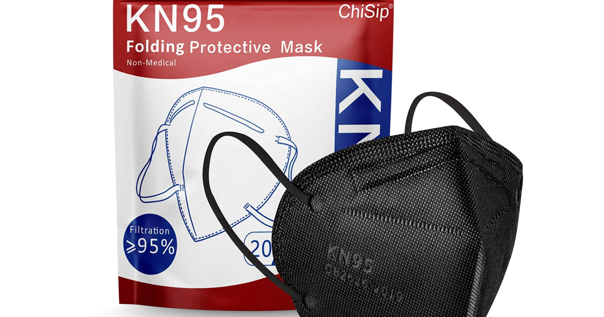 KN95 Face Mask 20-Pack Only $3.60 on Amazon