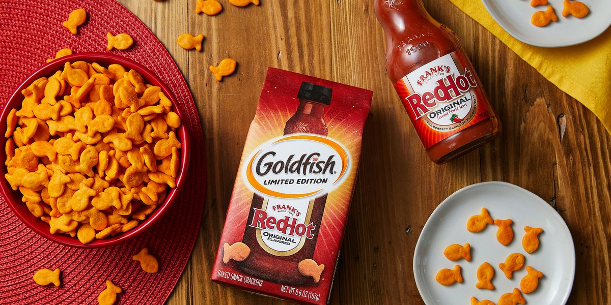 Goldfish And Frank's RedHot Have Created Hot Sauce-Flavored Crackers And They're *So* Good