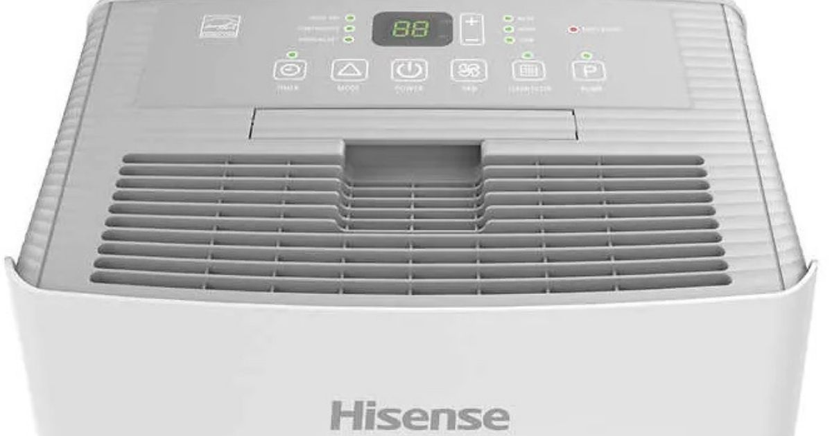 Hisense 50-Pint Dehumidifier w/ Built-In Pump Only $119.99 Shipped on Costco.com (Regularly $180)