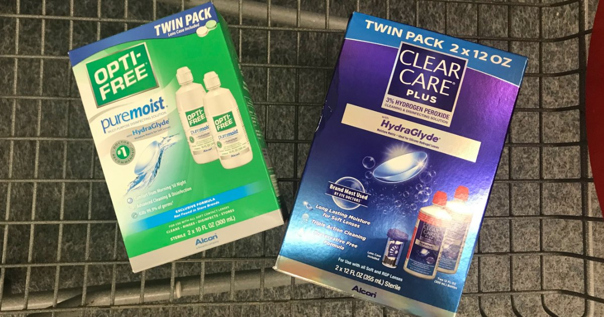 Opti-Free or Clear Care Contact Solution 2-Packs Only $6.99 at Walgreens