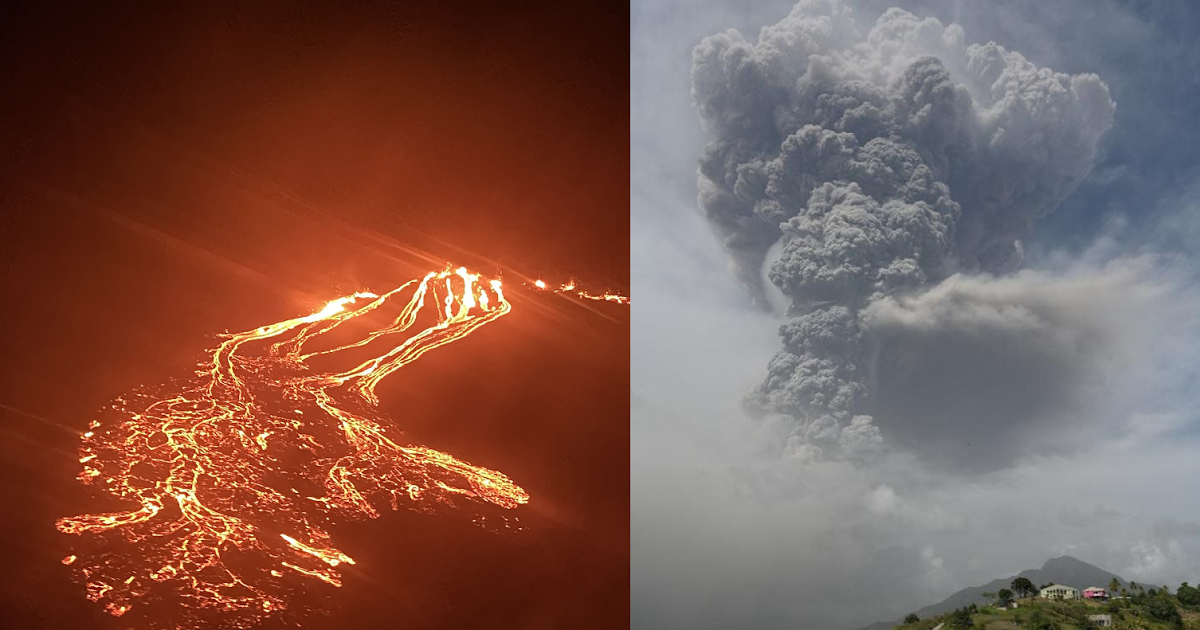 Two Eruptions, Both Alike in Dignity