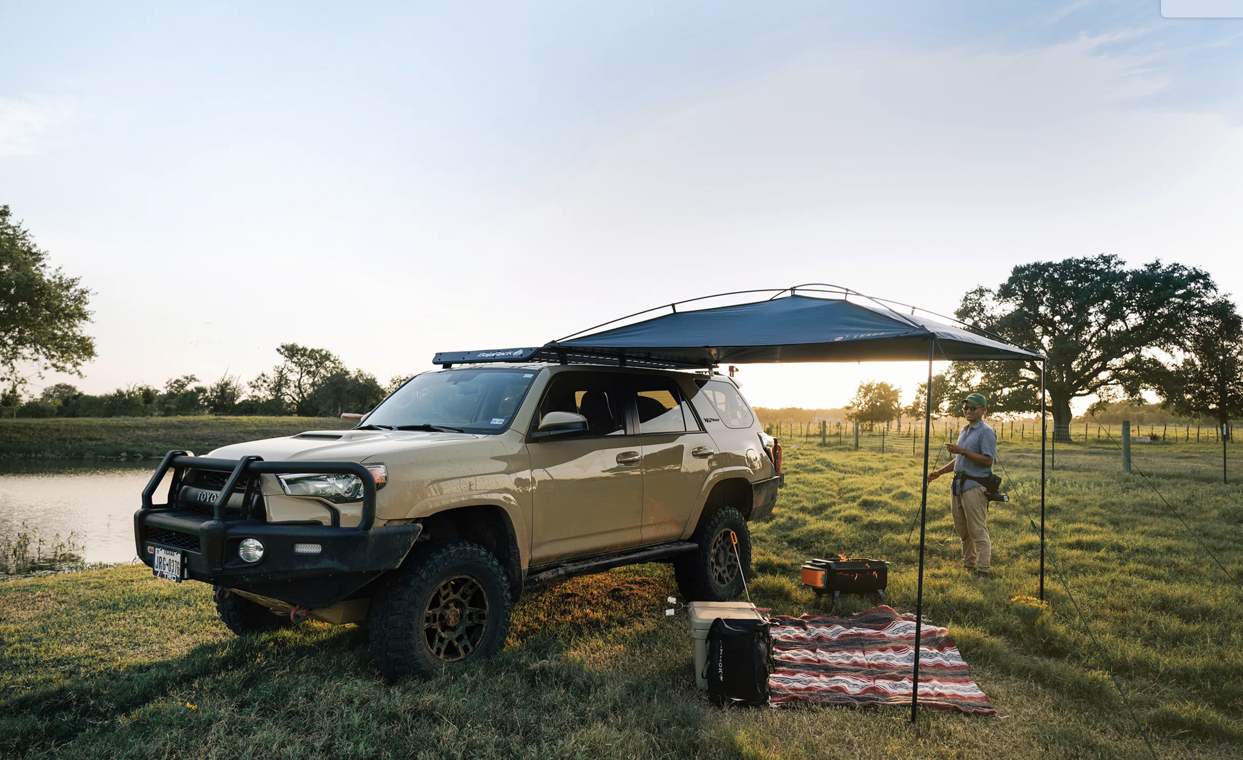 Camp Cool: The MoonShade is the Lightweight, Portable, Temporary Awning You Need