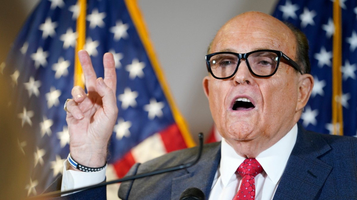 Rudy Giuliani Hospitalized for COVID After Maskless Election-Conspiracy Tour