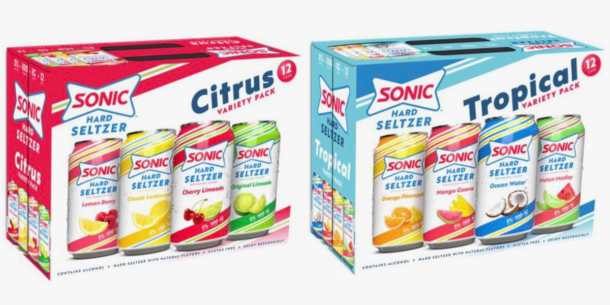 SONIC Is Getting In The Hard Seltzer Game With Citrus And Tropical Variety Packs