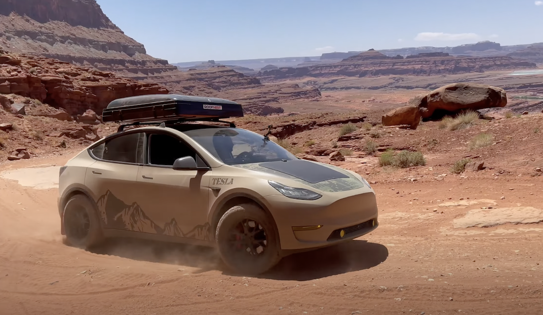 A Lifted Off-Road Tesla Suddenly Makes a Lot of Sense to Us