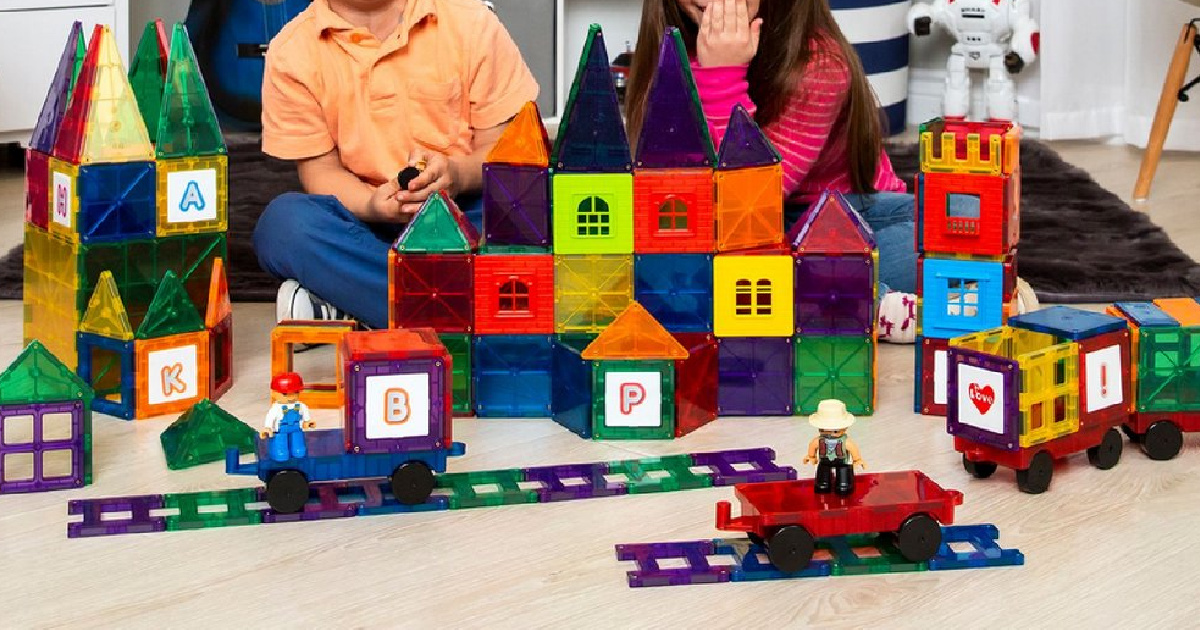 Magnetic Tiles 60-Piece Set w/ Carrying Case Only $24.99 Shipped