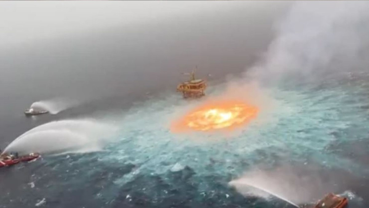 The Oil Company Behind the Gulf Fireball Is Blaming a Lightning Strike